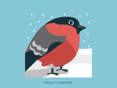 February 2022 | Calendar collection snow christmas winter illustrator illustration accountancy vector illustration charachter design vector print design bird logo bird colours minimalistic flat 2022 calendar branding graphic design