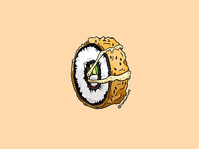 Tempura 🍱 menu logo restaurant branding food drawing design sticker procreate art digital food sushi illustration
