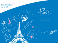 Paris online typography ui web vector design illustration