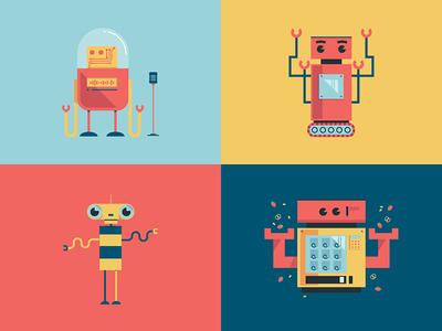 Bring Your Robots to Work Day 2 illustration kids hack facebook bot robot