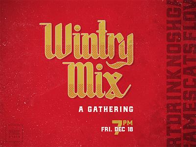 Wintry Mix invatation invite winter