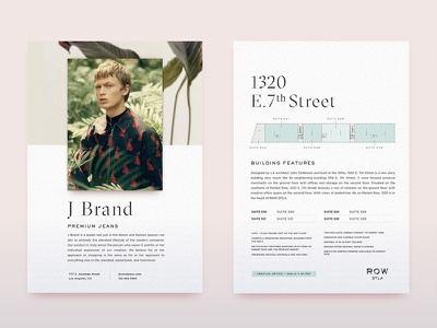 ROW Print type fashion high poster plan floor print retail luxury