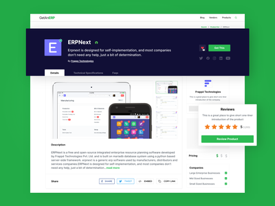 GetAnERP- Product page Style Exploration 01 webdesign web design work website web erp for manufacturing wearehybreed ui design hybreed erp development india erp