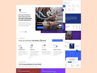 Homepage for a Web Development Company branding hybreed desktop homepage icons wearehybreed white erp landing page web design website ui design uidesign ui design web