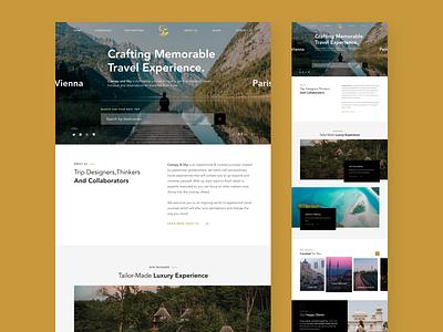 Canopy & Sky- Homepage Design Exploration for a Travel Company travel homepage design hybreed wearehybreed ui design landing page web design website uidesign design ui