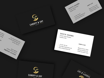 Canopy & Sky - Simple Business Cards Mockup for Travel Company typography vector design business card mockup wearehybreed logo business cards branding business car design business card