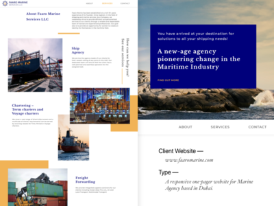 Faaro Marine- One pager company website hybreed wearehybreed php html faaromarine website clientwork