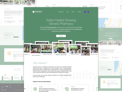 Generico- A Website POC for Pharmacy Chain in Mumbai wearehybreed hybreed onepage website local business ui design