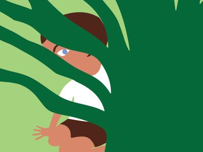 The Selfish Giant / Oscar Wilde concept illustration garden hide and seek fragment oscar wilde book illustration illustrator