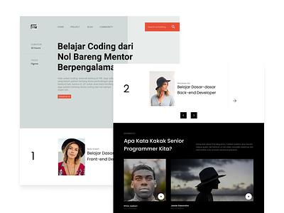 Website Landing Pages for Learning Programming exploration explore website design webdesign landing page landingpage