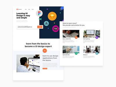 #Exploration - Landing Page for Learn to Make UI Flow design explore ui webdesign landingpage learning platform exploration