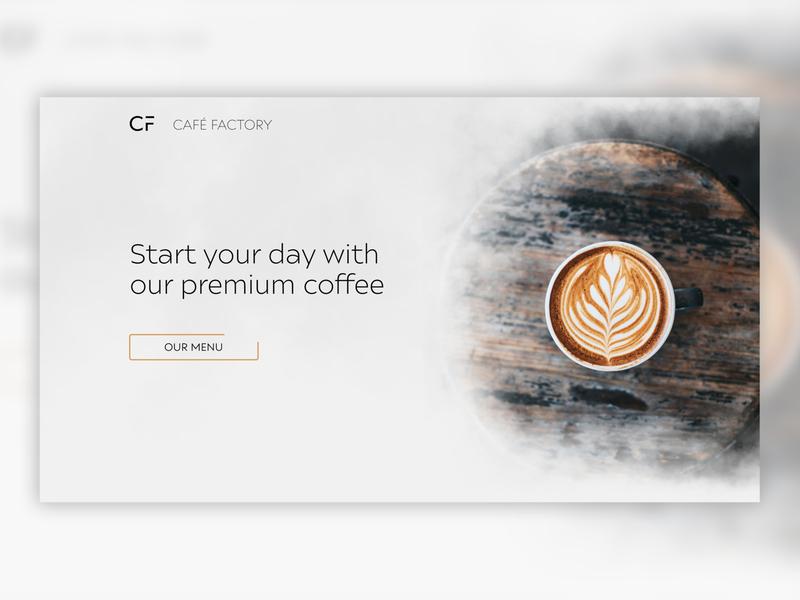 Modern Coffee Shop Webdesign webdesign landing cafeteria websites website design website minimal ui web ux design coffee shop coffeeshop coffee cafe racer