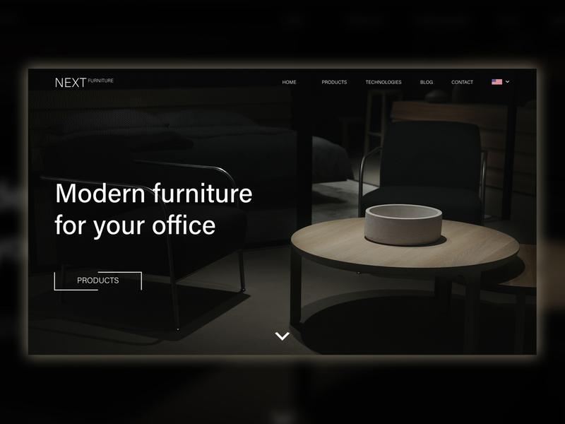 Modern Furniture Website (Dark Look) furniture design landingpage furniture website furniture store uxdesign landing minimal ux design ui design uiux ui ux websitedesign web design web webdesign websites website