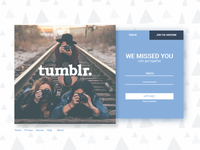 #dailyui #001 Tumblr Redesign