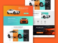 Test drive landing page daily UI Challenge