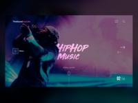 Hiphop Music Web UI