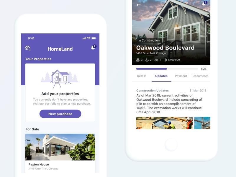 Homeland Real Estate app design ui design design real estate real estate app uidesign mobile app ui