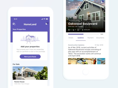 Homeland Real Estate app design ui design design real estate real estate app uidesign mobile app ui