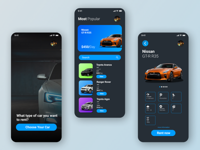 Car Rent UI ux userinterface user experience uidesign ui mobile app design mobile app design app