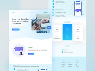 Website Accounting Service financial accounting landingpage ux uidesign ui mobile app userinterface user experience design app