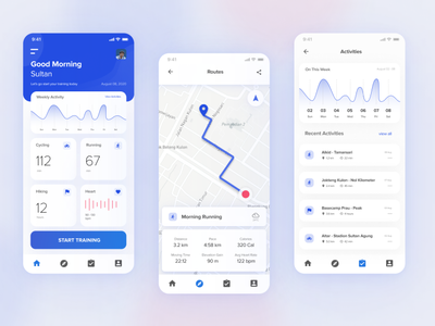 Sports Tracking App run tracker hiking running tracker tracking app dashboard design ux mobile app design uidesign ui mobile app userinterface user experience design app