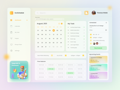 Schedule Dashboard Design ux dashboard app dashboard dashboard design uidesign ui app userinterface user experience design