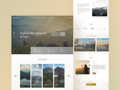 Mountain Exploration exploration mountains blog landingpage dashboard design ux uidesign ui userinterface user experience design
