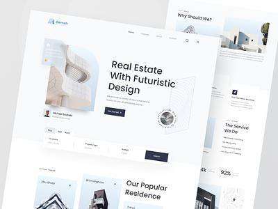 Oemah - Real Estate Landing Page uidesign design ux app real estate app furniture landing page ui userinterface user experience real estate