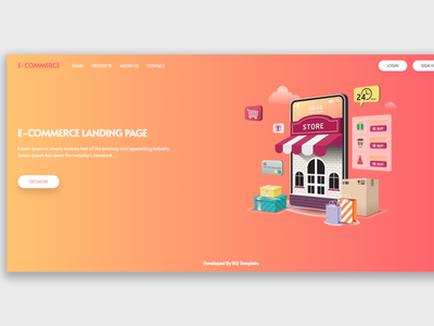 E-commerce laravel Landing Page laravel landing page web html landingpage html template