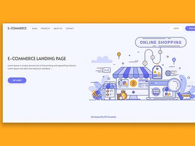 E-commerce Landing Page laravel ui ux web landingpage