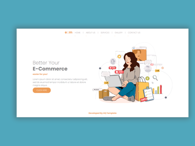 E-Commerce Bootstrap Landing Page landing landing page web ui landingpage html template