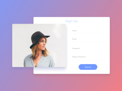 DailyUI #001—Sign Up