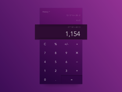 DailyUI #004—Calculator