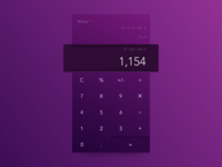 DailyUI #004—Calculator