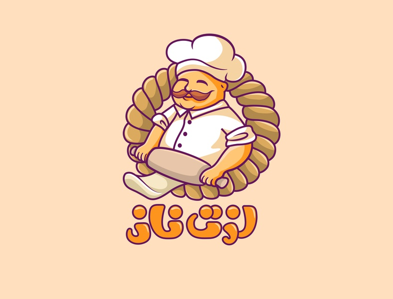 bakery logo pleasure enjoy store bread characterdesign confectionery pastry bakery identity graphicdesign logo branding creative illustration