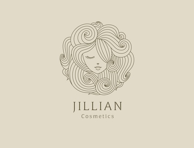 Cosmetics logo perfume natural beauty cosmetics logodesign identity graphicdesign branding illustration creative logo