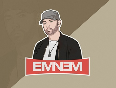 Eminem Character Design vector hiphop music rapper rap characterdesign graphicdesign illustration creative art eminem