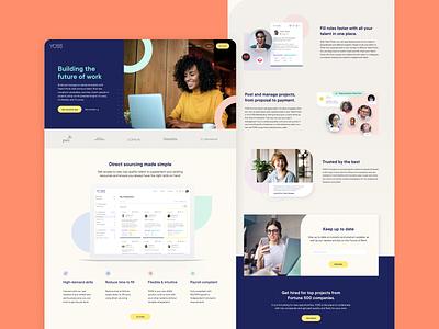 YOSS Homepage Design product landingpage webdesign branding