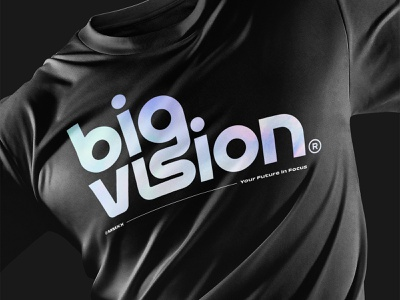Big Vision® Standard Issue T-Shirt foil holographic t-shirt apparel studio rebrand branding ligatures vector logo lettering typography