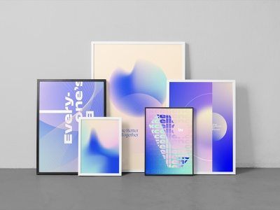 Big Vision® Core Beliefs Poster Set design logo branding design branding gradient vector experimental abstract poster design poster