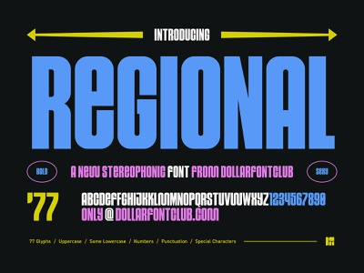 DFC 0024 - Regional - Font Release ux ui design branding logo vector type design lettering typography font type