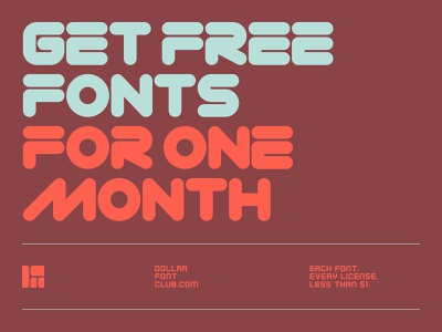 Free Fonts for One Month design branding graphic design deal offer website ux ui logo vector free font foundry type lettering typography fonts font
