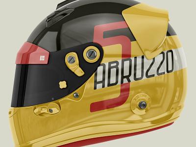 DFC 0025 - Abruzzo - Formula 1 Helmet Mockup design branding illustration logo vector type design graphic design formula 1 ux ui lettering font design fonts font typography type
