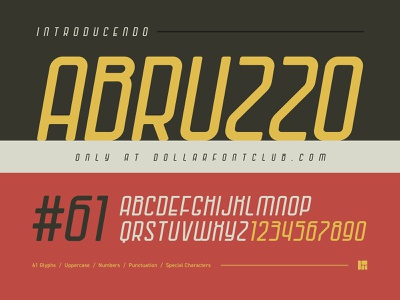 DFC 0025 - Abruzzo - Font Release design branding illustration logo vector italian formula 1 website ux ui foundry font design lettering fonts font typography type