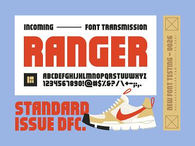 DFC 0026 - Ranger - Font Release ux ui branding illustration logo vector nasa space camp mars yard nike sneakers graphic design design lettering fonts font typography type