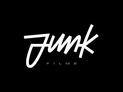 Junk Films 01 type graphic design design ligatures vector script lettering typography brand identity branding logo