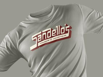 Sandello's Brand Identity - Apparel T-Shirt Mockup sports baseball cards retro ligatures brand identity graphic design design vector branding typography type lettering logo
