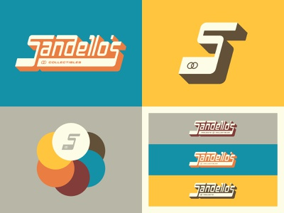 Sandello's Projects & Collectibles - Brand Identity sports baseball cards retro ligatures brand identity graphic design design vector branding typography type lettering logo