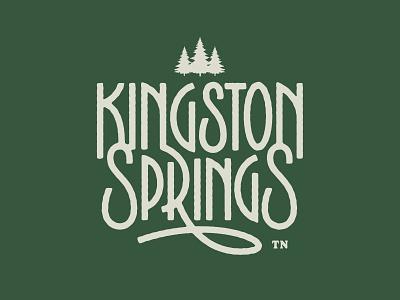 Kingston Spring, TN hometown ligatures design type illustration branding logo lettering vector typography