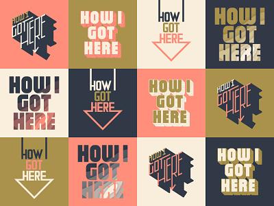 H.I.G.H. Podcast Title Treatments cover art album podcast ligatures design type illustration branding logo lettering vector typography